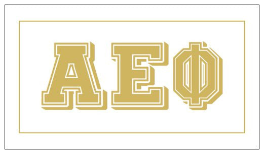 Alpha Epsilon Phi Gift Card . Metallic Gold