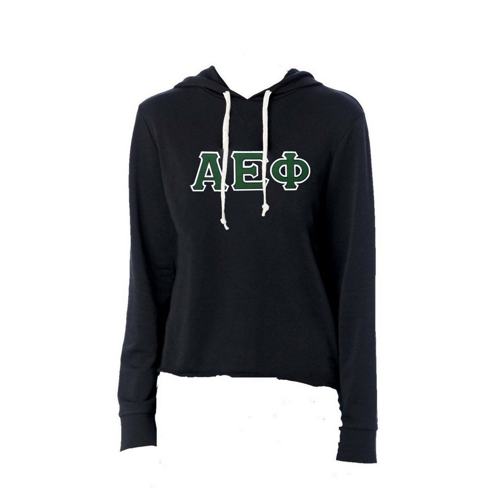 Alpha Epsilon Phi Sweatshirt I Terry Hoodie I Stitched Greek Letters