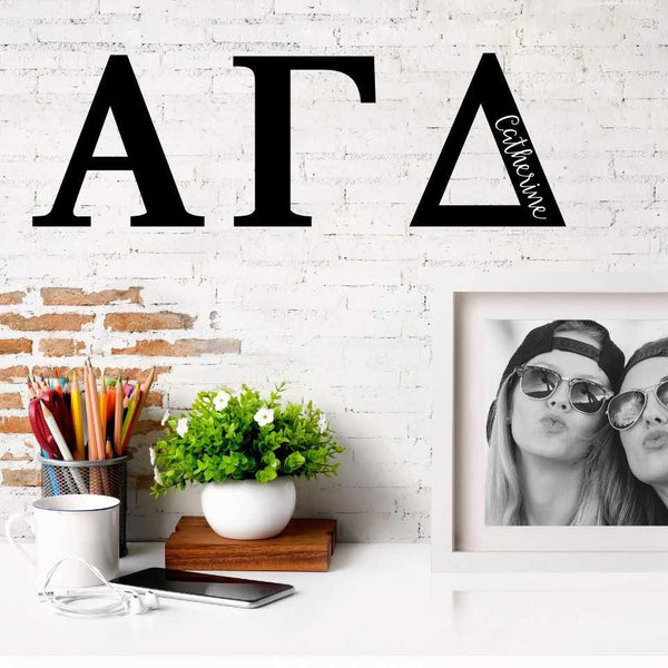Alpha Gamma Delta Greek Letters Ready to Hang I 7 inches I Personalize