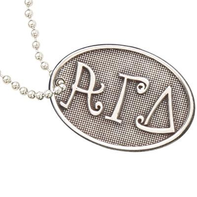 Alpha Gamma Delta Luggage Tag I Pewter