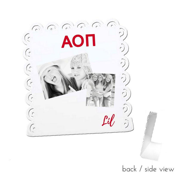 Alpha Omicron Pi Little Sign for Desk or Shelf; Cute Big Little Gift for Reveal