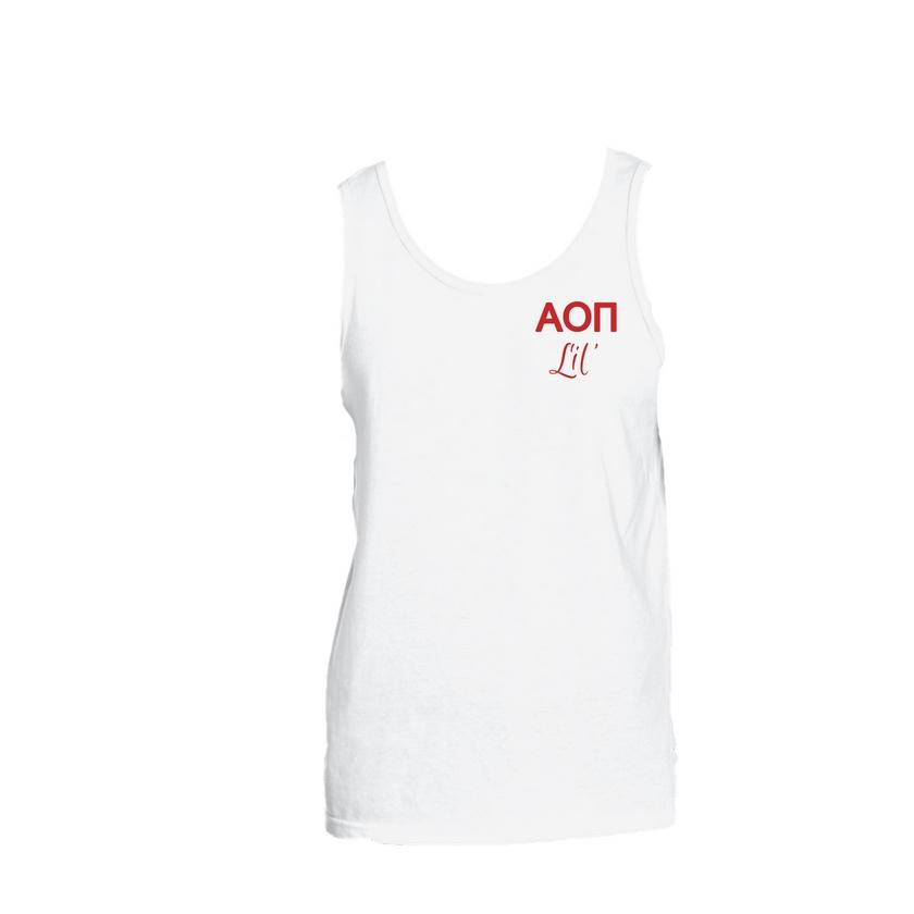 Alpha Omicron Pi Little Little Tank Top