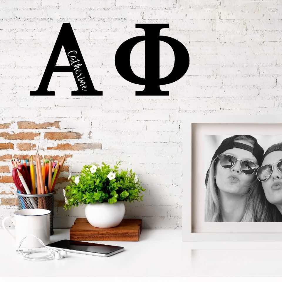 Alpha Phi Greek Letters Ready to Hang I 7 inches I Personalize