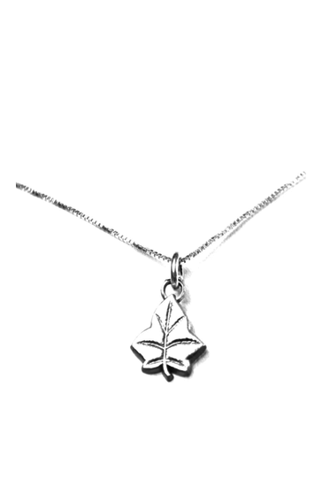 Leaf Charm. Sterling Silver. Also available, 16, 18 and 20 inch sterling silver box chains. Is it a gift? Add a gift box tied with ribbon and a handwritten gift card.