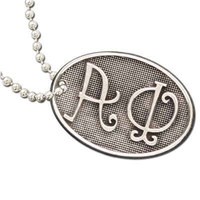 Alpha Phi Luggage Tag I Pewter
