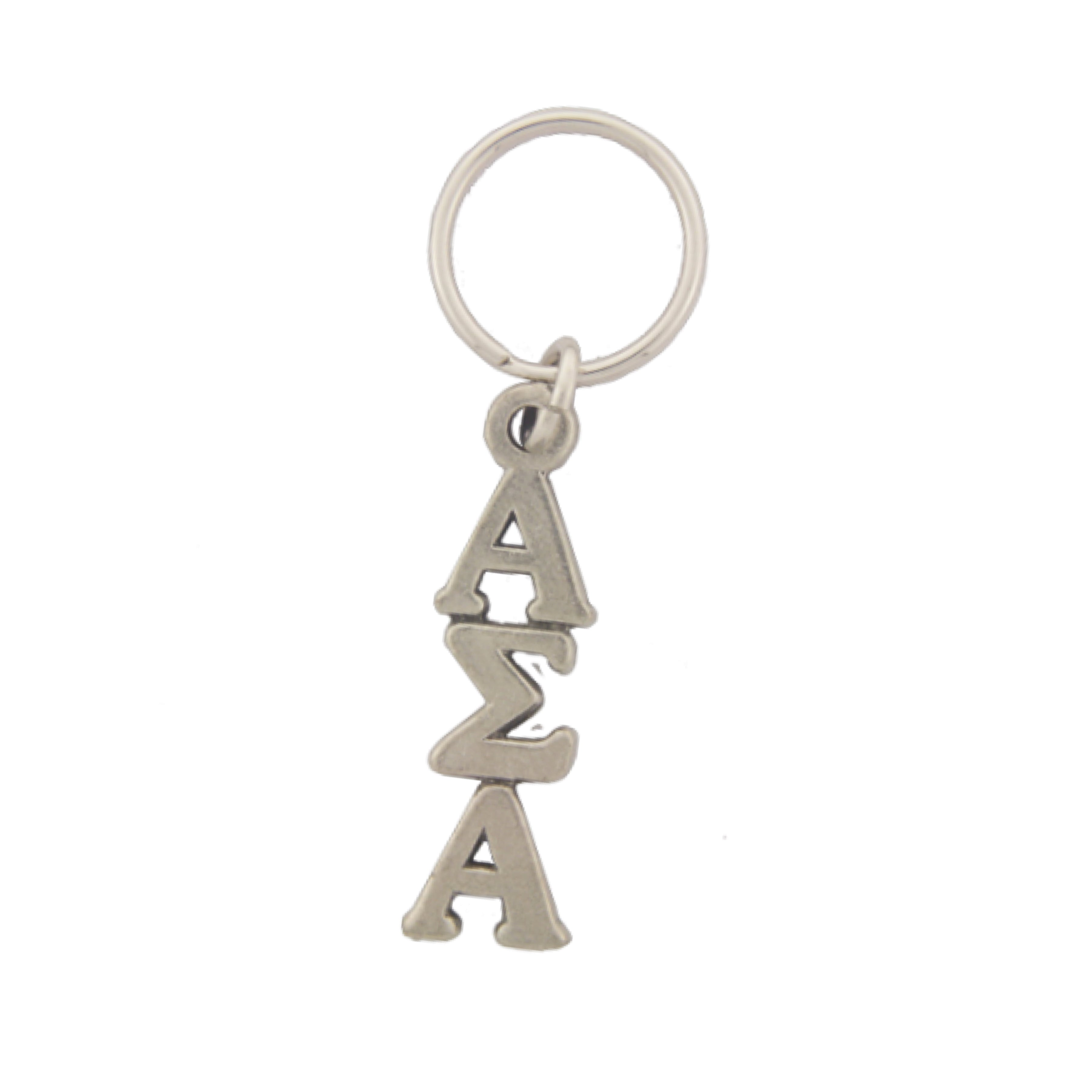 Alpha Sigma Alpha Pewter keychain. Sorority keyrings make great sorority gifts.