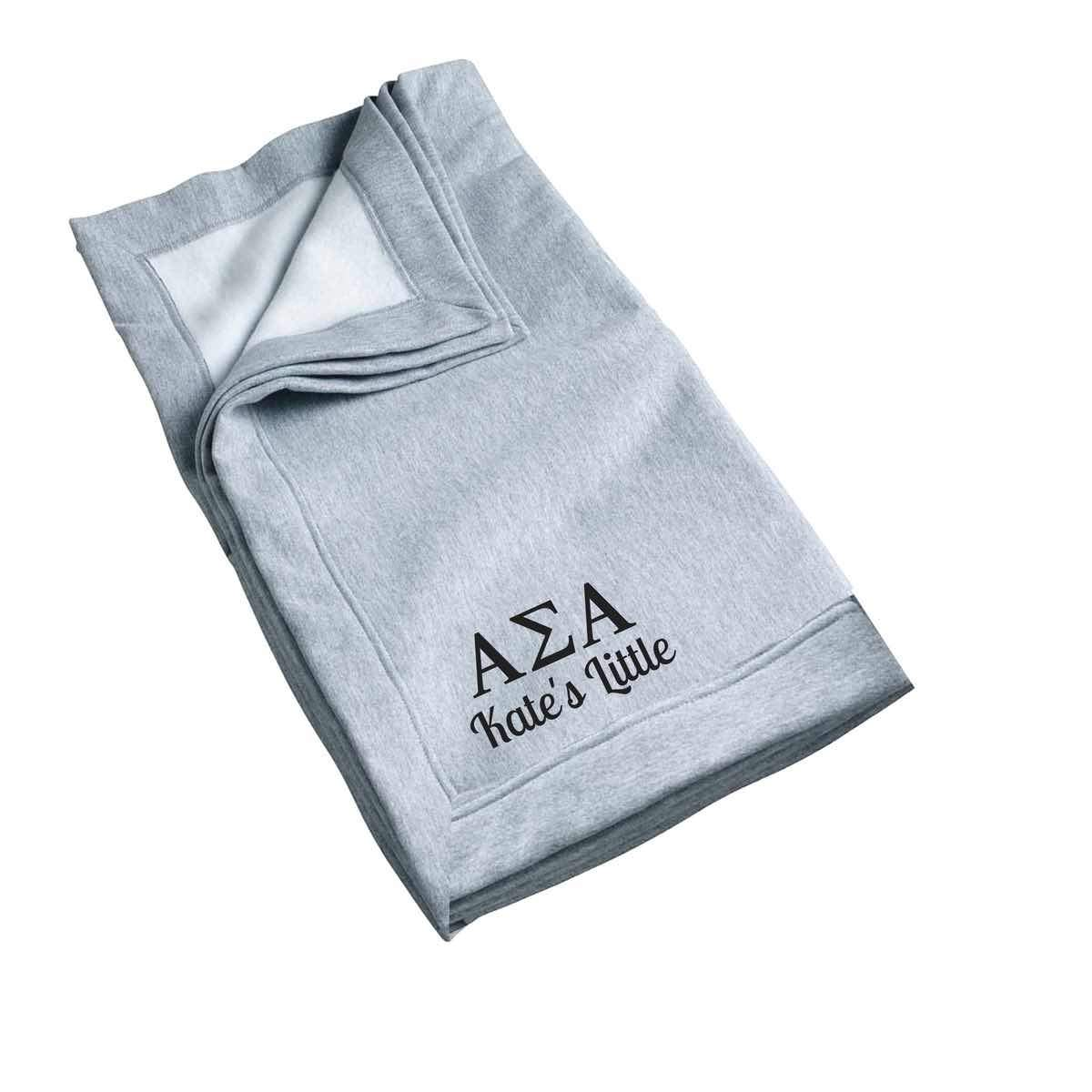 Alpha Sigma Alpha Little Blanket, Recommended One Size Fits All Personalized Big Little Gift