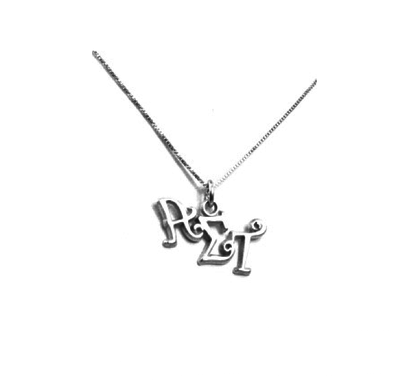 Alpha Sigma Tau charm for your sorority necklace. Sterling Silver sorority charm.