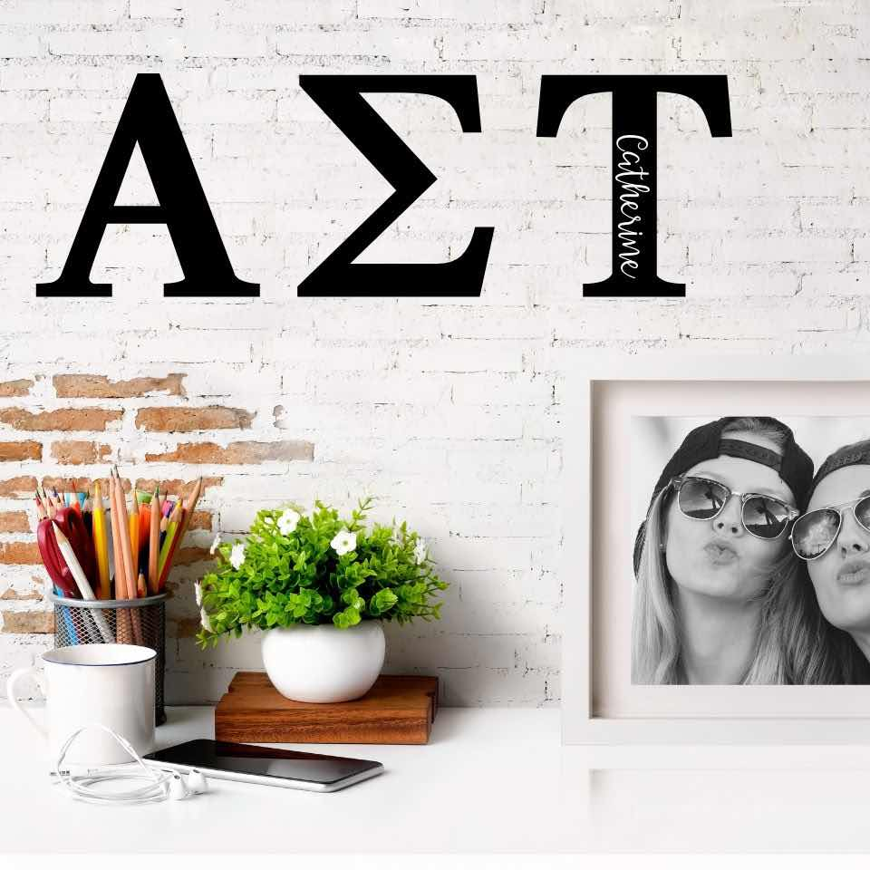 Alpha Sigma Tau Greek Letters Ready to Hang I 7 inches I Personalize