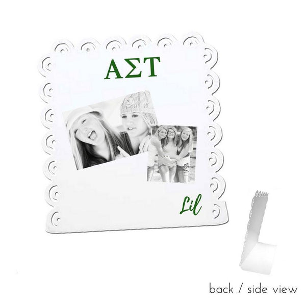 Alpha Sigma Tau Little Sign for Desk or Shelf; Cute Big Little Gift for Reveal
