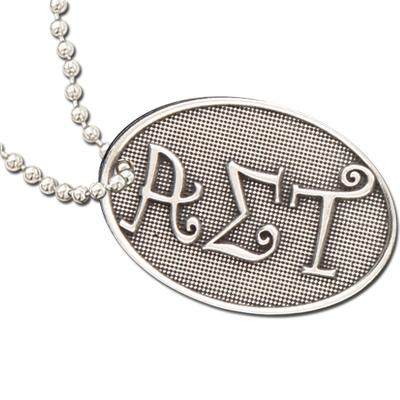 Alpha Sigma Tau Luggage Tag I Pewter