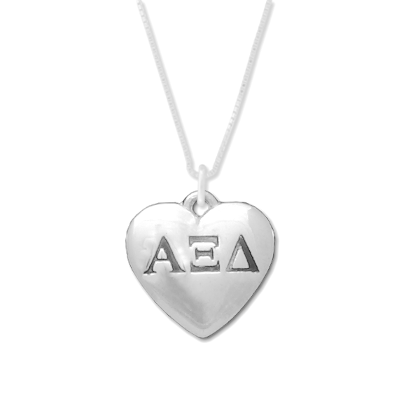 Alpha Xi Delta charm in sterling silver for a beautiful sorority necklace.