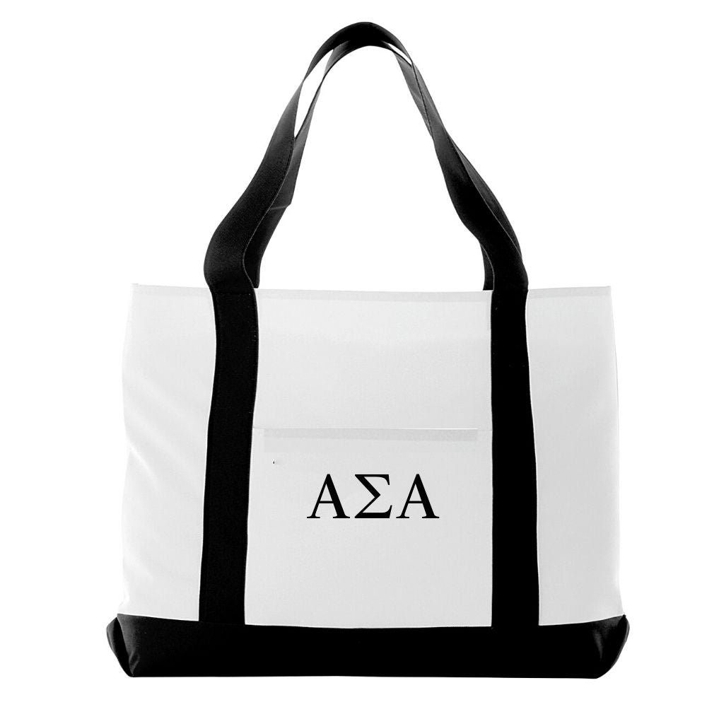 Alpha Sigma Alpha Bag I Large Tote I Optional Personalization