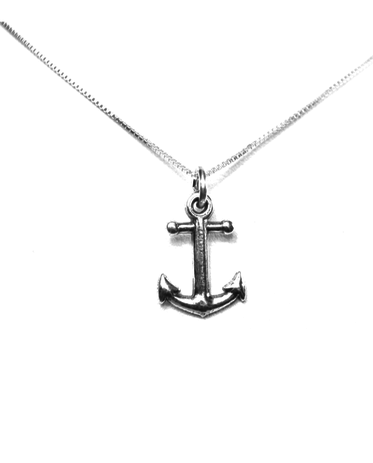 Anchor Charm available in two different sizes. Sterling Silver. Also available, 16, 18 and 20 inch sterling silver box chains. Is it a gift? Add a gift box tied with ribbon and a handwritten gift card.