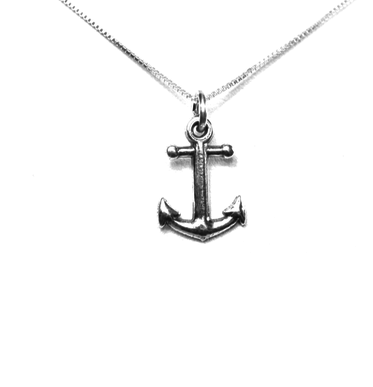 Delta Gamma Anchor Charm. Sterling Silver. Also available, 16, 18 and 20 inch sterling silver box chains. Is it a gift? Add a gift box tied with ribbon and a handwritten gift card.