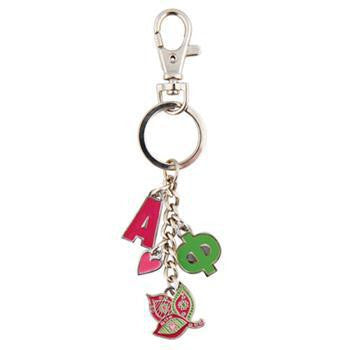 Alpha Phi Keychains with Symbol