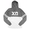 Chi Omega Long Sleeve . Hoodie . White Stitched Greek Letters