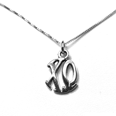 Chi Omega Charm Charm Sterling Silver Monogram Circle Drop. Chains available.