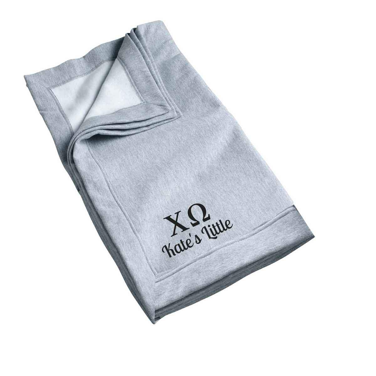Chi Omega Little Blanket, Recommended One Size Fits All Personalized Big Little Gift