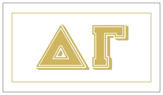 Delta Gamma Gift Card . Metallic Gold