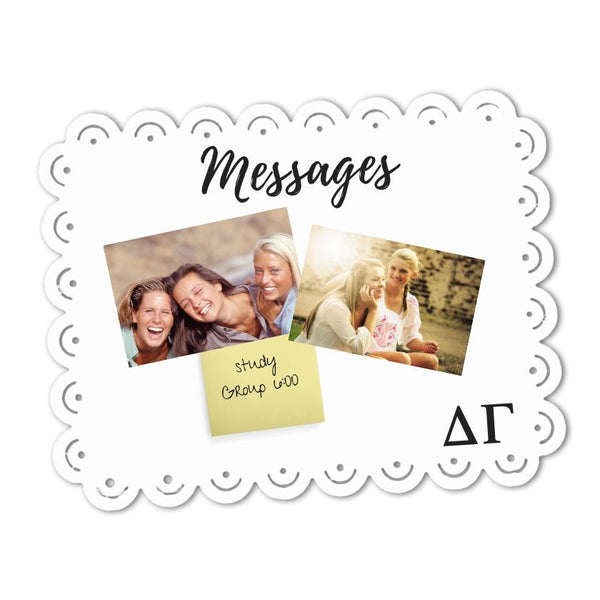 Delta Gamma sign message memo board decor