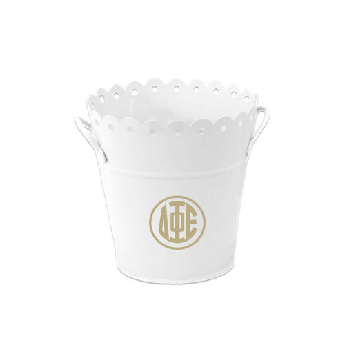 Delta Phi Epsilon Bucket . Greek Monogram Storage Bin