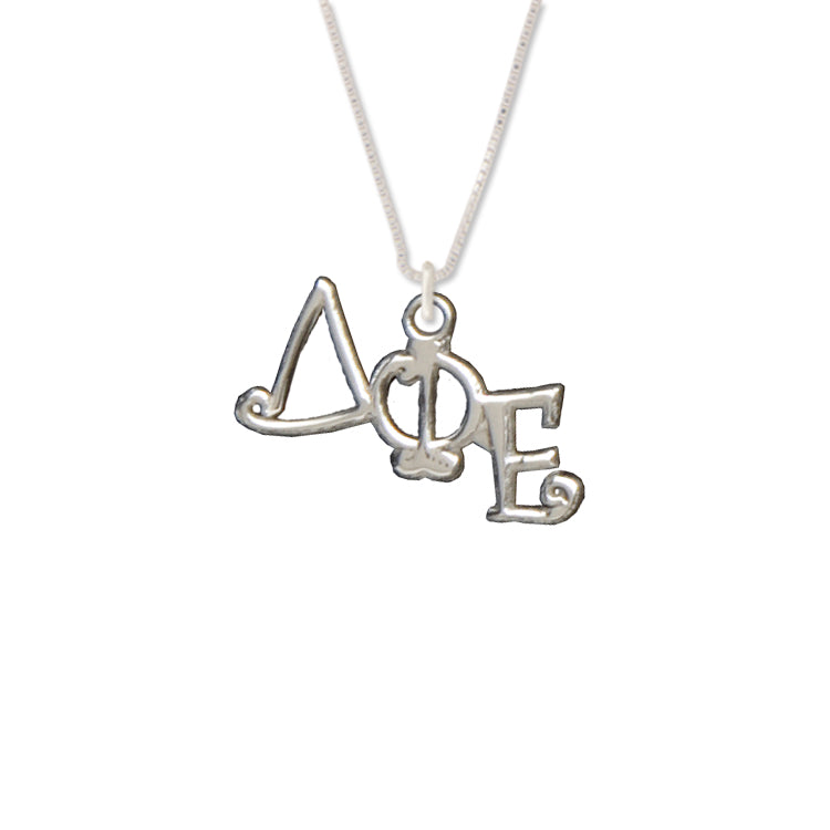 Delta Phi Epsilon charm for your sorority necklace. Sterling Silver sorority charm.