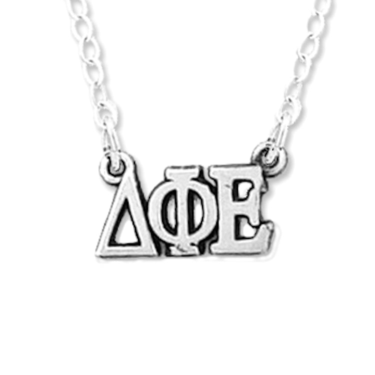 Delta Phi Epsilon necklace, choker style.