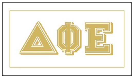 Delta Phi Epsilon Gift Card . Metallic Gold
