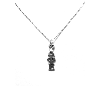 Delta Phi Epsilon Lavaliers sterling silver. Add a 16 in, 18 in, or 20 in sterling silver box chain. Is it a gift? Let us ship for you in a gift box tied with ribbon and a handwritten gift card.