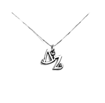 Delta Zeta charm for your sorority necklace. Sterling Silver sorority charm.