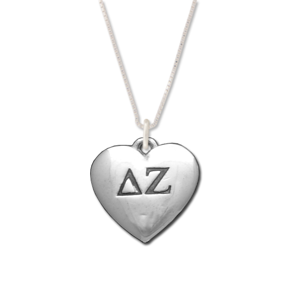 Delta Zeta charm in sterling silver for a beautiful sorority necklace.