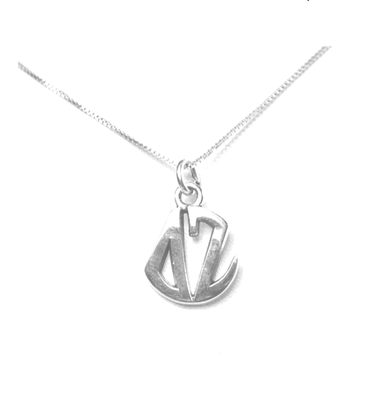 Delta Zeta Charm Sterling Silver Monogram Circle Drop. Chains available.