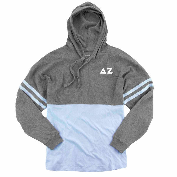 Recommended Gift I Sorority Hoodie Jersey I Light Blue & Grey