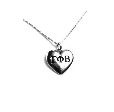 Gamma Phi Beta charm in sterling silver for a beautiful sorority necklace.