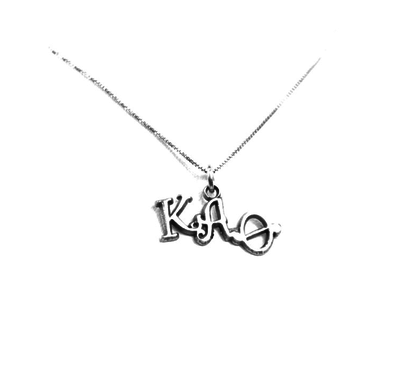 Kappa Alpha Theta charm for your sorority necklace. Sterling Silver sorority charm.