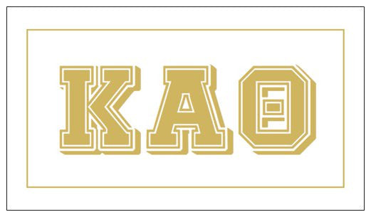 Kappa Alpha Theta Gift Card . Metallic Gold