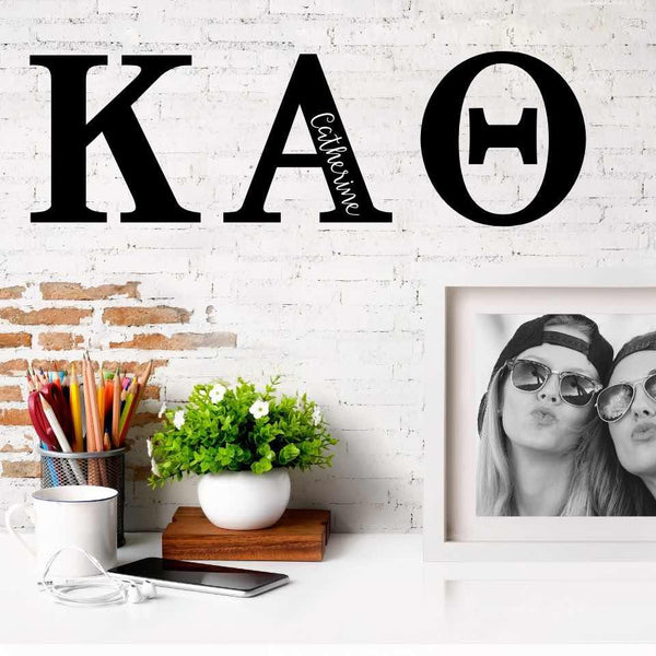 Kappa Alpha Theta Greek Letters Ready to Hang I 7 inches I Personalize