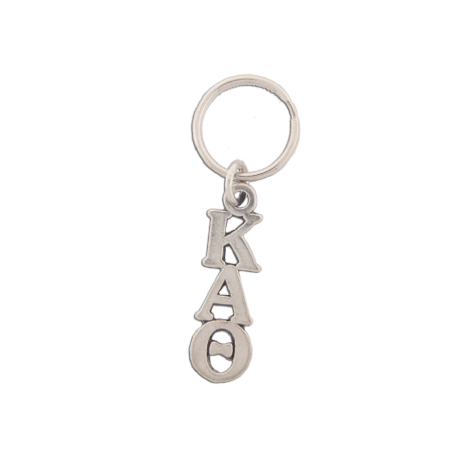 Kappa Alpha Theta Pewter keychain. Sorority keyrings make great sorority gifts.