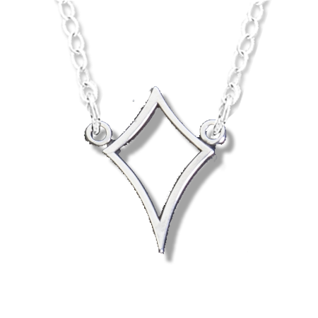 Kappa Alpha Theta kite necklace. Sterling Silver includes adjustable chain.