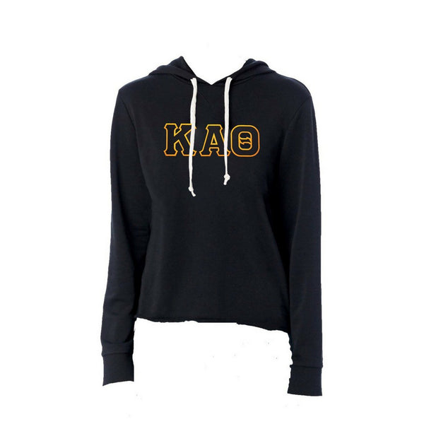 Kappa Alpha Theta sweatshirt with stitched Greek Letters. #KappaAlphaTheta french terry hoodie sweatshirt. Shop #Theta Clothing Collection for other coordinating items available only at M&D Sorority Gifts! #KAT