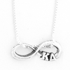 Kappa Delta infinity charm in sterling silver with Greek letters.