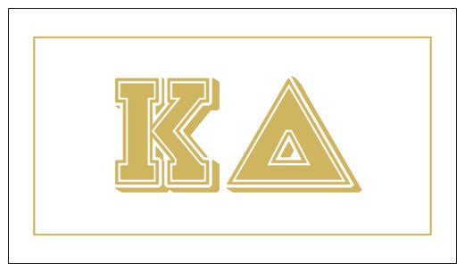 Kappa Delta Gift Card . Metallic Gold
