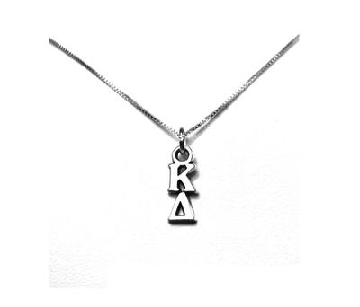 Kappa Delta Lavaliers sterling silver. Add a 16 in, 18 in, or 20 in sterling silver box chain. Is it a gift? Let us ship for you in a gift box tied with ribbon and a handwritten gift card.