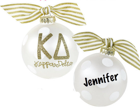 Kappa Delta Ornament, collectible gold greek letters