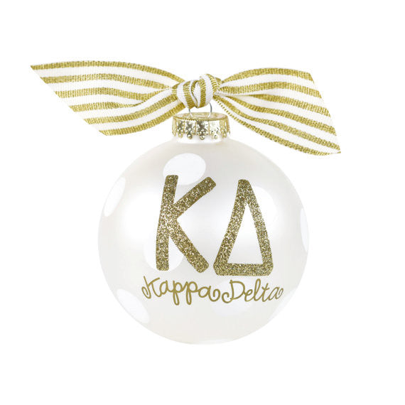 Kappa Delta Ornament I Collectible I Gold I Optional Personalization