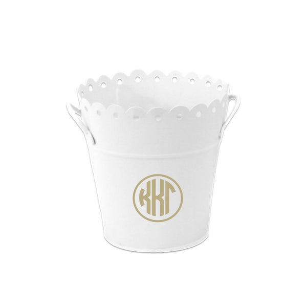 Kappa Kappa Gamma bucket perfect for gift giving, baskets, chapter gifts and dorm room organizing