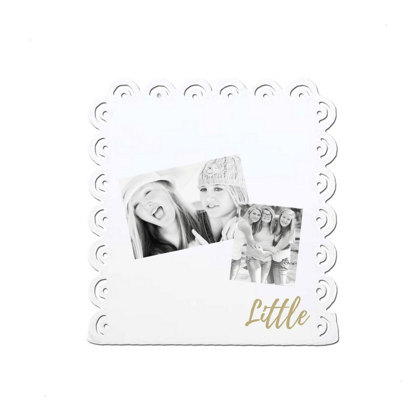 Big Little Magnetic Message Board Stand . Table Top Design for Shelf or Desk