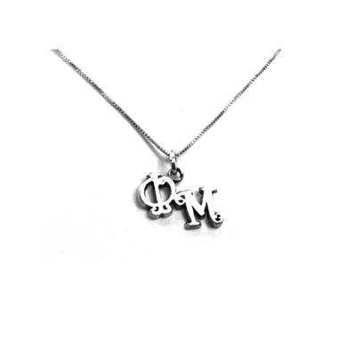 Phi Mu charm for your sorority necklace. Sterling Silver sorority charm.