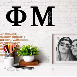 Phi Mu Greek Letters Ready to Hang I 7 inches I Personalize